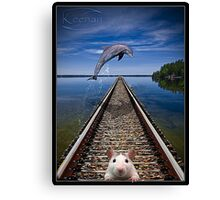 Mouse Track Canvas Print