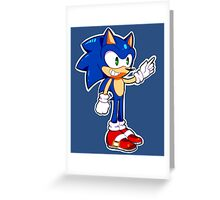Mini Sonic The Hedgehog Greeting Card