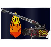 Quint Fire Engine - Fire Fighter Poster