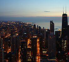 Chicago Highrise Sunrise  by basalt101