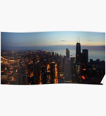 Chicago Highrise Sunrise  Poster