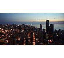 Chicago Highrise Sunrise  Photographic Print
