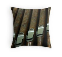 the organ pipes at Saint Meinrad Archabbey Throw Pillow
