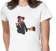 Halloween Monster Delight - Witch Womens Fitted T-Shirt
