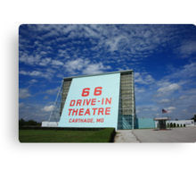 Route 66 Drive-In Theatre Canvas Print
