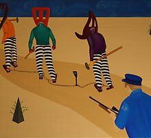 Autoanimation Convicts on a Chain Gang by Rudy Pavlina