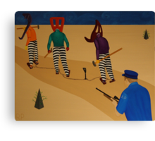 Autoanimation Convicts on a Chain Gang Canvas Print