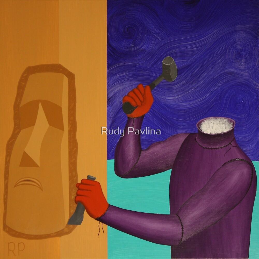 Moai Engaged in Cephalic Resizing by Rudy Pavlina