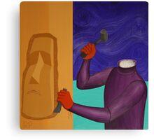 Moai Engaged in Cephalic Resizing Canvas Print