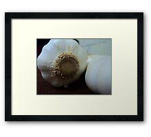 garlic's crown Framed Print