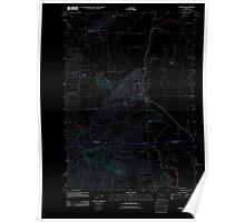 USGS Topo Map Oregon Monroe 20110831 TM Inverted Poster