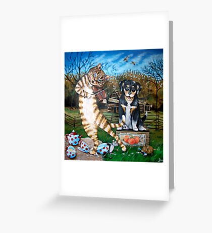 The little dog laughed Greeting Card