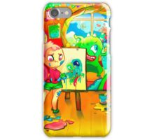 Aliens, Monster, Girls and Friends iPhone Case/Skin