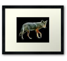 Medicine Wheel Totem Animals by Liane Pinel- Coyote Framed Print