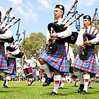 Scottish Highland Pipe &amp; Drum Band  by Carole-Anne