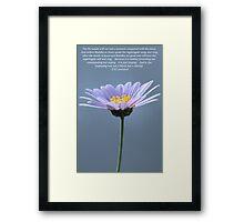 Daisy Power Framed Print