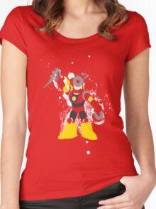 Metal Man Splattery T-Shirt Women's Fitted Scoop T-Shirt