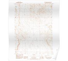 USGS Topo Map Oregon Poverty Basin North 281154 1984 24000 Poster