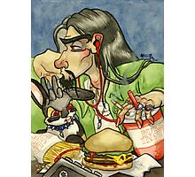 Double Cheeseburger Deluxe Combo Photographic Print