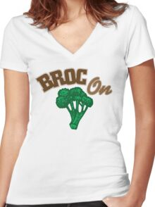 Broc On Women's Fitted V-Neck T-Shirt