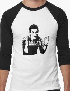 New Girl - Are you serious?! Men's Baseball ¾ T-Shirt