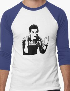 New Girl - Are you serious?! Men's Baseball ¾ T-Shirt