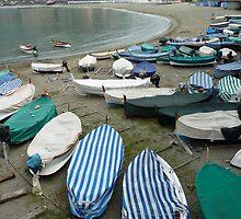 Beach Scene in Levanto, Italy. by joycee