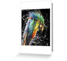 Painted Parrot Greeting Card