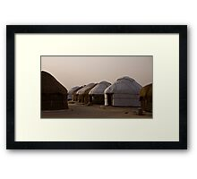 Yurts at Ayaz Kala Framed Print