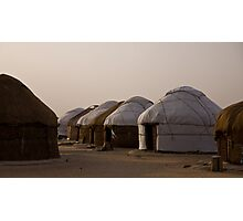 Yurts at Ayaz Kala Photographic Print