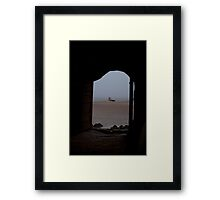 Through the yurt door Framed Print