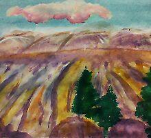 Mesa Grande, watercolor by Anna  Lewis, blind artist