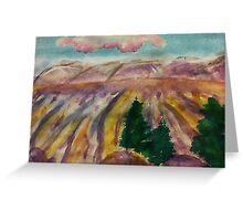 Mesa Grande, watercolor Greeting Card