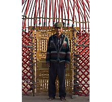 Ayaz Kala Yurt Man Photographic Print