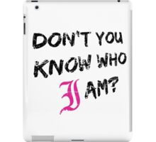 Every Time I Die - Don't You Know Who I Am? (Black) iPad Case/Skin