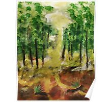 Revised Forest ,now in the light of day, watercolor Poster