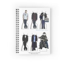 House Paper Dolls Spiral Notebook