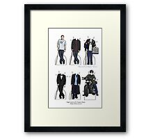 House Paper Dolls Framed Print