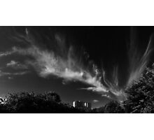 Black and White Sky Photographic Print