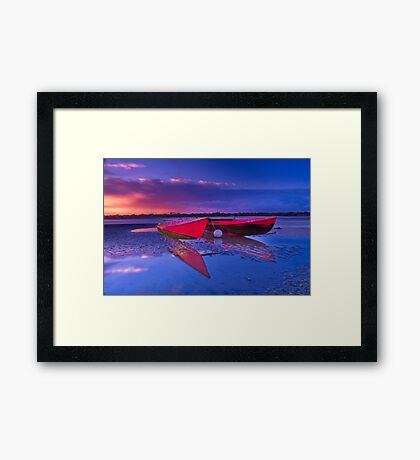 """Dawn over the Riverflats"" Framed Print"