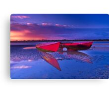 """Dawn over the Riverflats"" Canvas Print"