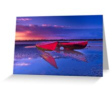 """Dawn over the Riverflats"" Greeting Card"