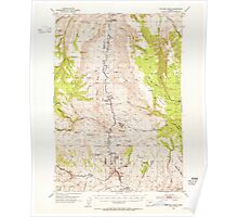 USGS Topo Map Oregon Picture 282788 1953 62500 Poster