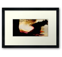 moving peaks..... away to higher ground Framed Print
