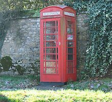 Red Telephone Box by JaxHunter