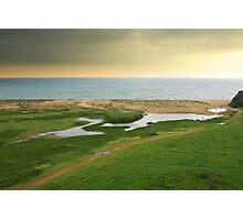 land and sea Photographic Print