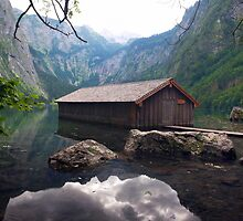 house on the mountain lake by plamenx