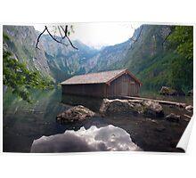 house on the mountain lake Poster