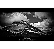 Mt Ngauruhoe - Tongariro National Park, New Zealand Photographic Print