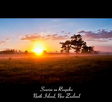 Sunrise on Ruapehu - New Zealand by John Allen